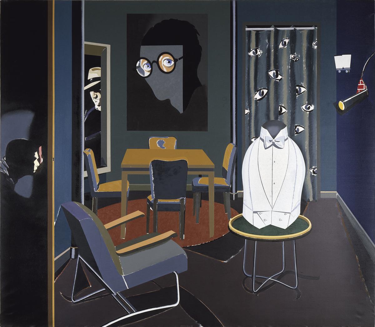 """Eduardo Arroyo. """"José María Blanco White amenazado por sus seguidores en el mismo Londres"""", 1978. IVAM, Institut Valencià d'Art Modern"""