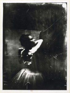 Edgar Degas, fotografía de bailarina, hacia 1895