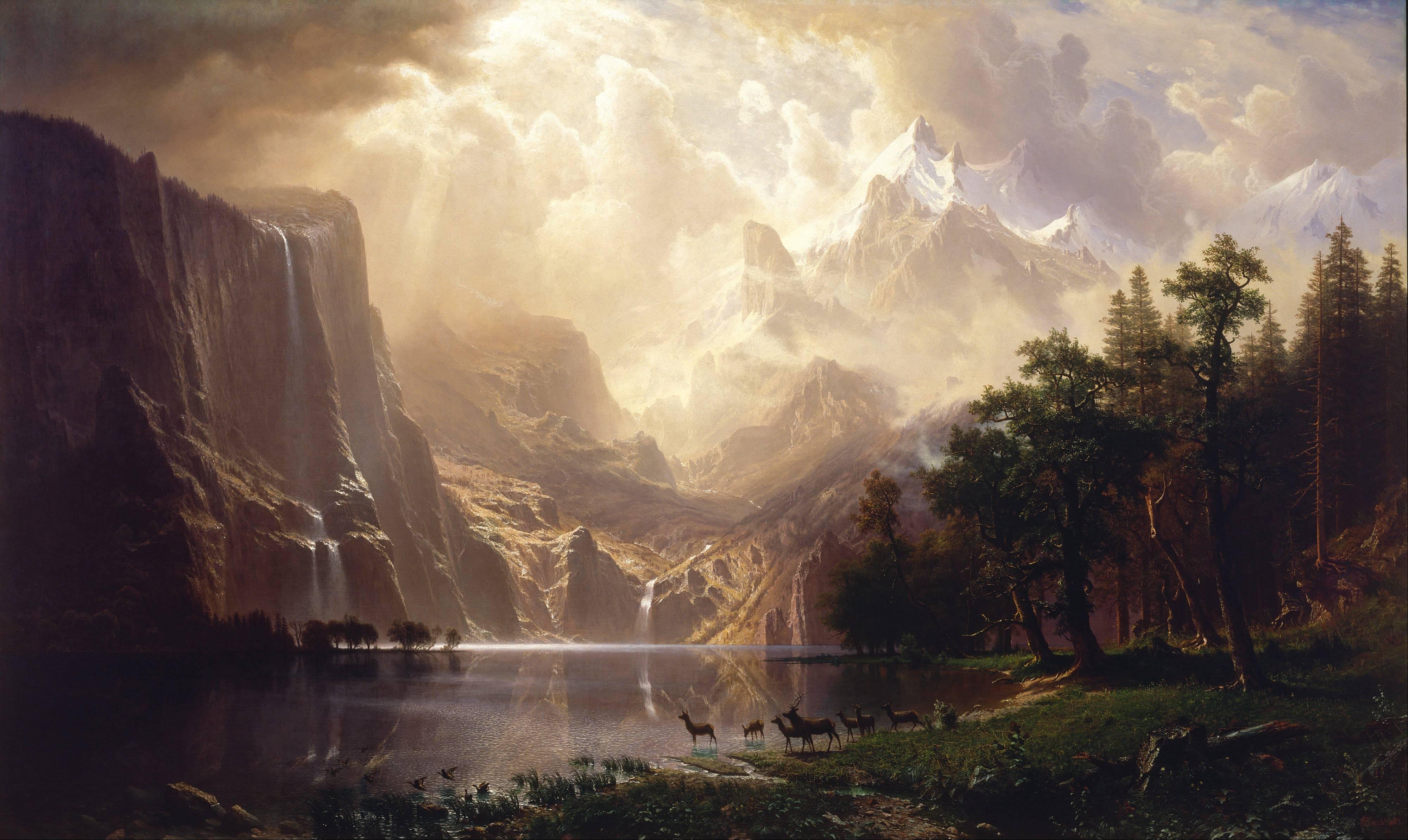 Albert Bierstadt, Sierra Nevada, California, 1868. Smithsonian American Art Museum, Washington, DC