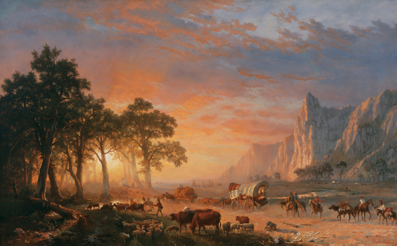 Albert Bierstadt, Emigrantes atravesando la llanura, 1869. National Cowboy & Western Heritage Museum, Oklahoma City