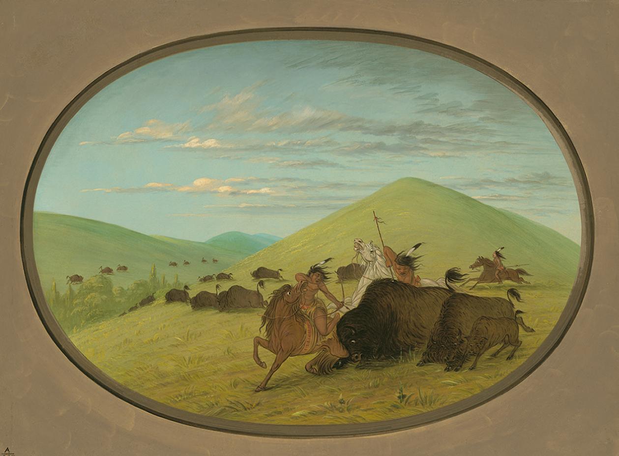George Catlin, Caza del bisonte, 1861-1869. National gallery of Art, Washington, D.C.