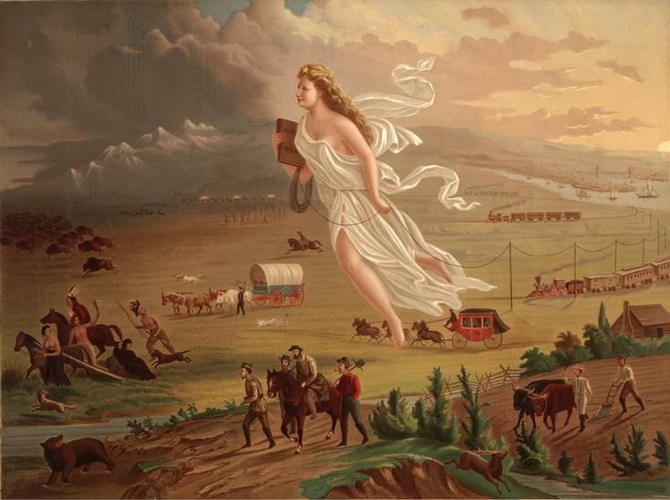 John Gast, American progress, 1872. Museum of the American West, Los Ángeles