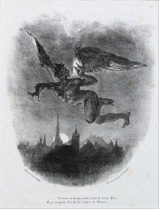 Eugène Delacroix, Mefistófeles por los aires, 1827