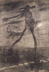 Félicien Rops, Satán sembrando cizaña, 1867