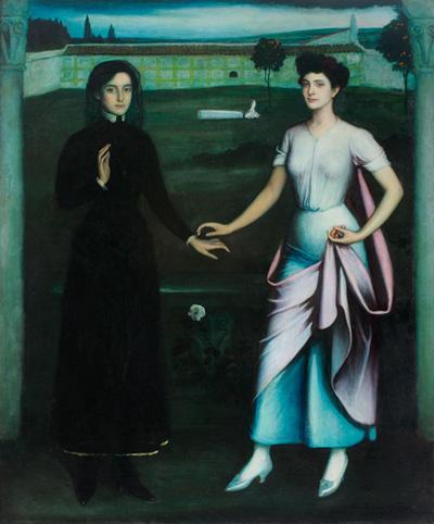 Julio Romero de Torres. 'Amor sagrado, amor profano', 1908