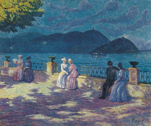 Darío de Regoyos y Valdés. 'La Concha, nocturno', c.1906