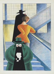 """Equipo Crónica. """"La escalera"""", 1978. Colección Carmen Thyssen-Bornemisza en depósito en el Museo Thyssen-Bornemisza"""