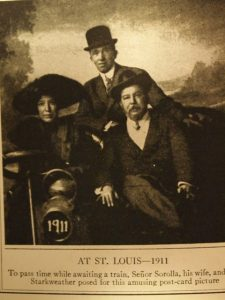 Joaquín Sorolla y Clotilde García con William Starkweather, 1911