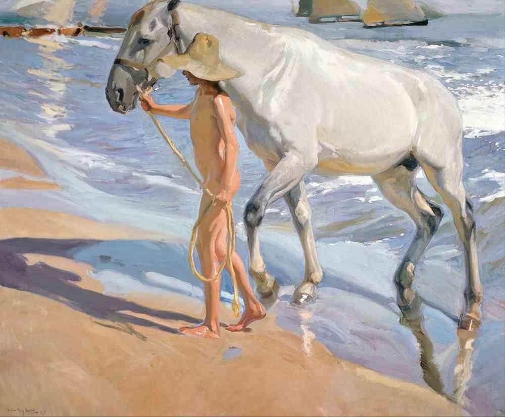 Joaquín Sorolla, El baño del caballo, 1909. Museo Sorolla, Madrid