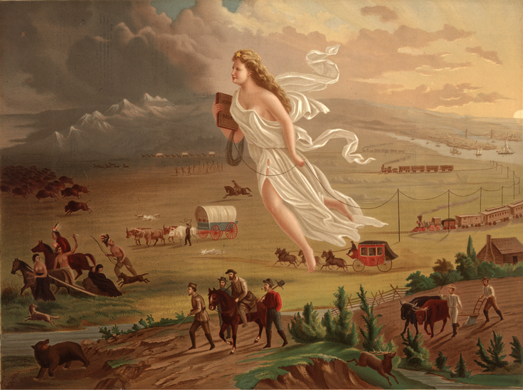 John Gast, American progress, 1872. Museum of the American West, Los Ángeles