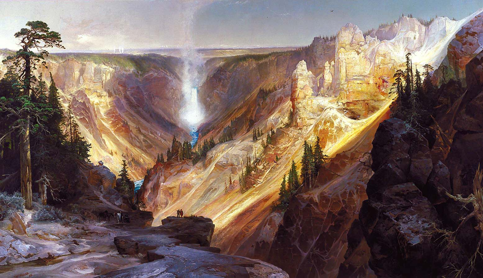Thomas Moran, El gran cañón de Yellowstone, 1872. Smithsonian American Art Museum, Washington, DC